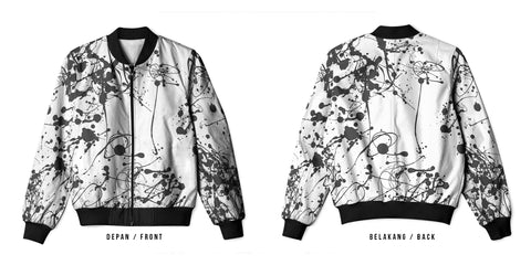 New Design Paint Splatter Art 4 3D Digital Printed Men's Bomber Jacket Sublimation sizes: S to 3XL
