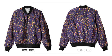 New Design Speckle Art 4 3D Digital Printed Men's Bomber Jacket Sublimation sizes: S to 3XL