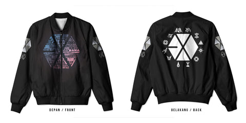 New Fans K-POP EXO 3D Digital Printed Men's Bomber Jacket Sublimation sizes: S to 3XL