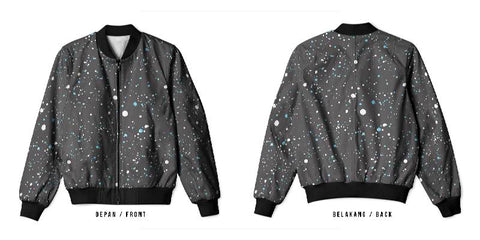 New Design Speckle Art 5 3D Digital Printed Men's Bomber Jacket Sublimation sizes: S to 3XL