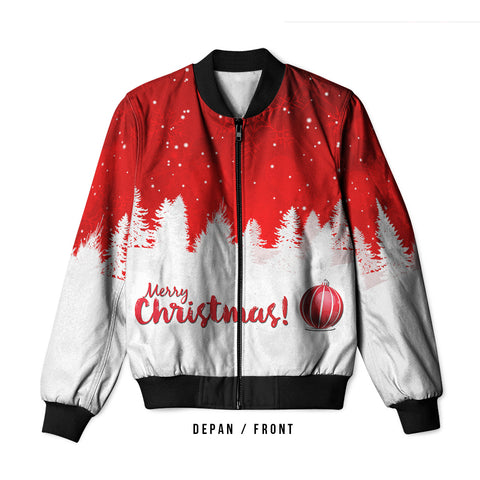 Merry Christmas 3D Digital Printed Men's Bomber Jacket Sublimation