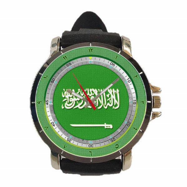 Hot New Design MOSLEM Art 18 Custom Sport Wristwatch Sport Big Face Rubber Band