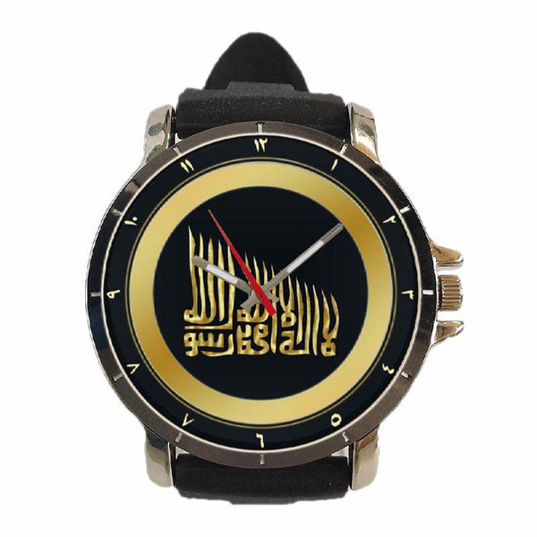 Hot New Design MOSLEM Art 26 Custom Sport Wristwatch Sport Big Face Rubber Band