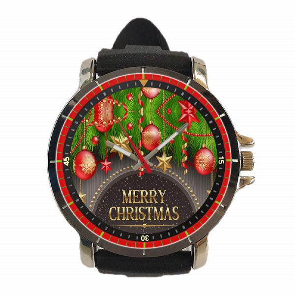 Hot New Design CHRISTMAS Art 6 Custom Sport Wristwatch Sport Big Face Rubber Band