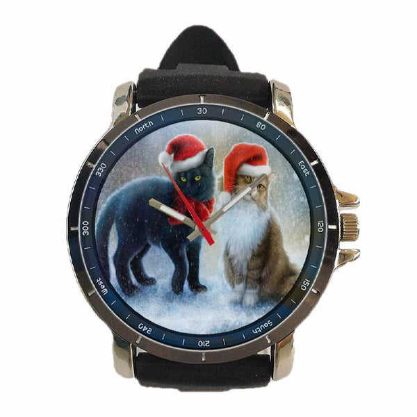 Hot New Design CHRISTMAS Art 9 Custom Sport Wristwatch Sport Big Face Rubber Band