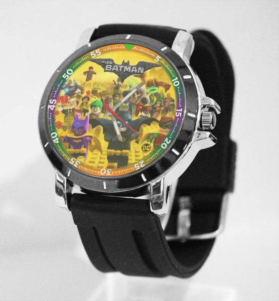 Hot New Design BATMAN Art 1 Custom Sport Wristwatch Sport Big Face Rubber Band