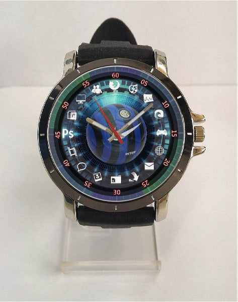 Hot New Design INTER MILAN Art 2 Custom Sport Wristwatch Sport Big Face Rubber Band