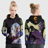Nightmare Before Christmas 3D Full Print Sublimation Women PullOver Hoodie Art 07