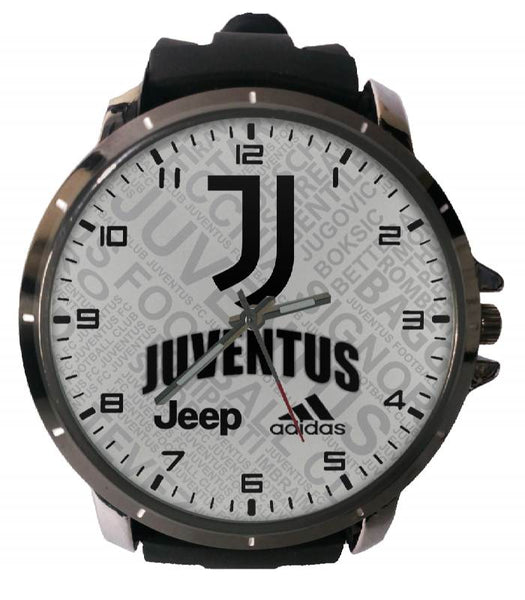 Hot New Design JUVENTUS Art 4 Custom Sport Wristwatch Sport Big Face Rubber Band