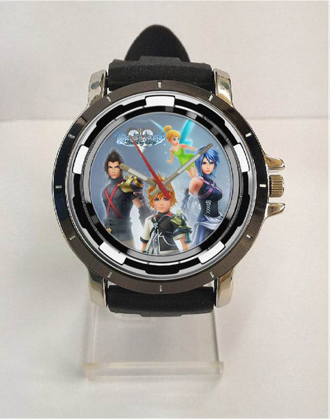 Hot New Design KINGDOM HEARTS Art 5 Custom Sport Wristwatch Sport Big Face Rubber Band