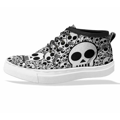 SKULL Custom Sneaker Canvas Shoes Unisex Full Print Sublimation ART 2