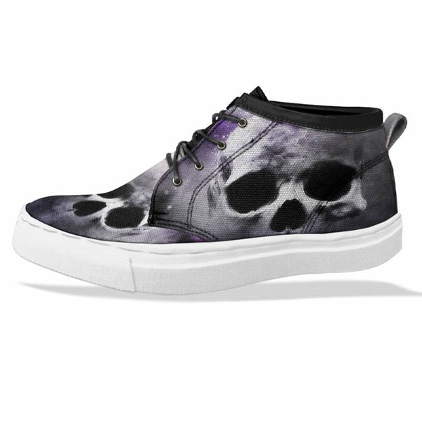 SKULL Custom Sneaker Canvas Shoes Unisex Full Print Sublimation ART 4