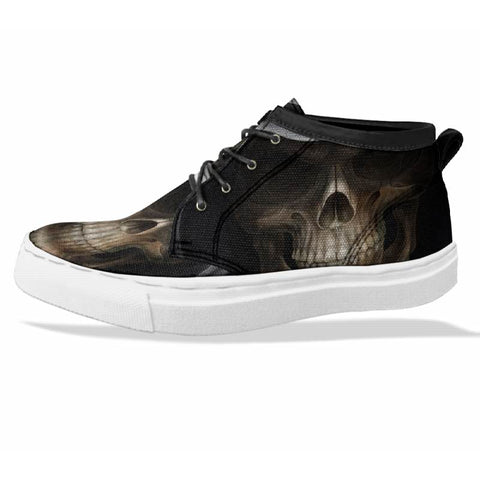 SKULL Custom Sneaker Canvas Shoes Unisex Full Print Sublimation ART 3