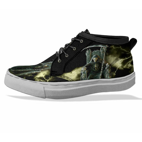 SKULL Custom Sneaker Canvas Shoes Unisex Full Print Sublimation ART 7