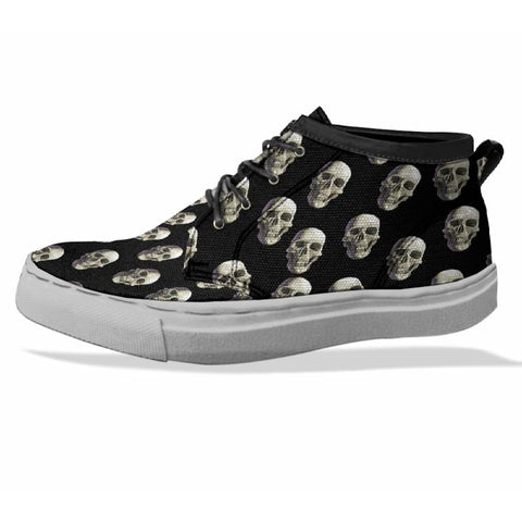 SKULL Custom Sneaker Canvas Shoes Unisex Full Print Sublimation ART 8