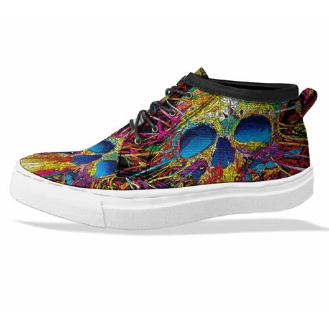 SKULL Custom Sneaker Canvas Shoes Unisex Full Print Sublimation ART 5