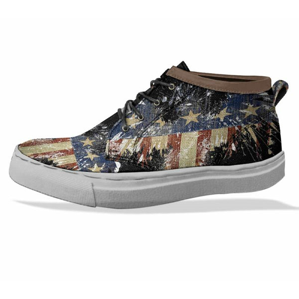 AMERICAN EAGLE Custom Sneaker Canvas Shoes Unisex Full Print Sublimation