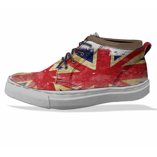 FLAG OF ENGLAND Custom Sneaker Canvas Shoes Unisex Full Print Sublimation