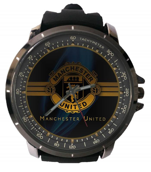 Hot New Design MANCHESTER UNITED Art 1 Custom Sport Wristwatch Sport Big Face Rubber Band