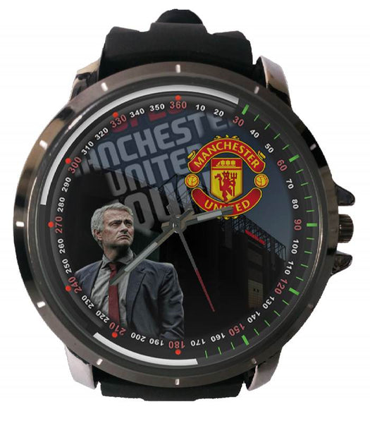 Hot New Design MANCHESTER UNITED Art 3 Custom Sport Wristwatch Sport Big Face Rubber Band