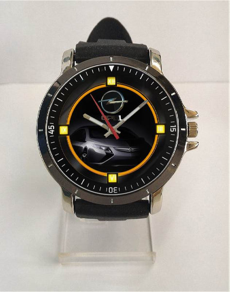 Hot New Design OPEL Art 3 Custom Sport Wristwatch Sport Big Face Rubber Band