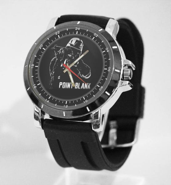 Hot New Design POINT BLANK Art 4 Custom Sport Wristwatch Sport Big Face Rubber Band