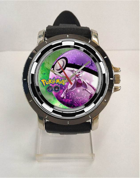 Hot New Design POKEMON GO Art 3 Custom Sport Wristwatch Sport Big Face Rubber Band