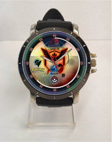 Hot New Design POKEMON GO Art 4 Custom Sport Wristwatch Sport Big Face Rubber Band