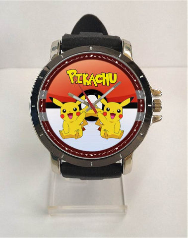 Hot New Design POKEMON GO Art 5 Custom Sport Wristwatch Sport Big Face Rubber Band