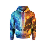 FIRE AND ICE UNISEX HOODIE