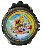 Hot New Design SPONGEBOB SQUAREPANTS Art 2 Custom Sport Wristwatch Sport Big Face Rubber Band