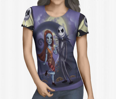 Nightmare Before Christmas 3D Full Print Sublimation Women T Shirt Art 06