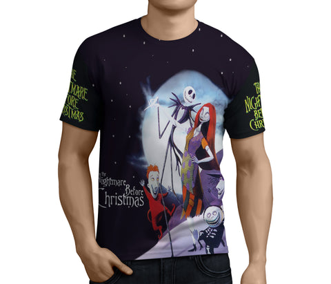 Nightmare Before Christmas 3D Full Print Sublimation Men T Shirt Art 07
