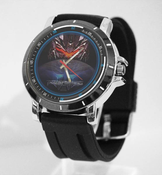 Hot New Design TRANSFORMERS Art 1 Custom Sport Wristwatch Sport Big Face Rubber Band