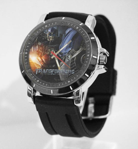 Hot New Design TRANSFORMERS Art 2 Custom Sport Wristwatch Sport Big Face Rubber Band