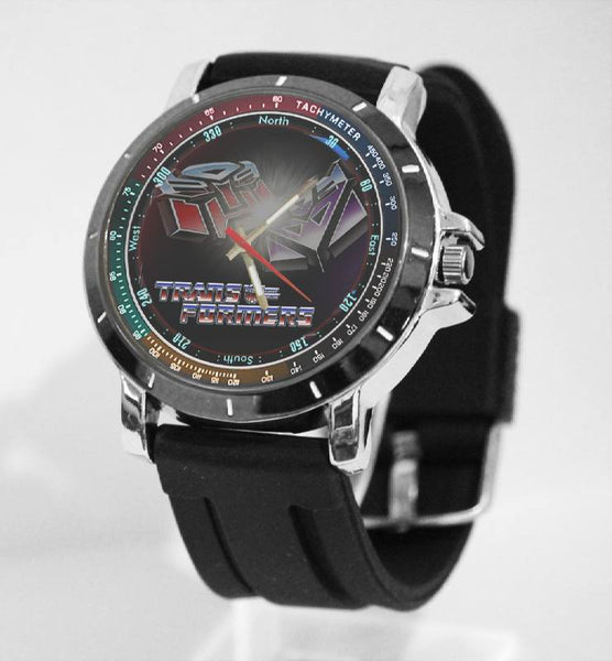 Hot New Design TRANSFORMERS Art 4 Custom Sport Wristwatch Sport Big Face Rubber Band