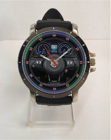 Hot New Design VW Art 3 Custom Sport Wristwatch Sport Big Face Rubber Band