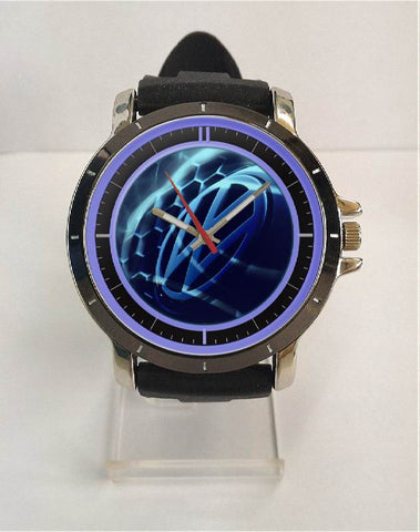 Hot New Design VW Art 4 Custom Sport Wristwatch Sport Big Face Rubber Band