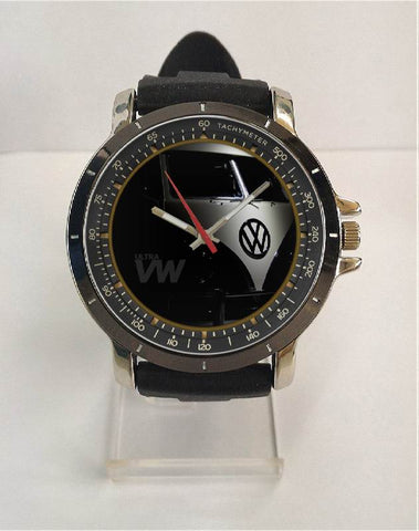Hot New Design VW Art 5 Custom Sport Wristwatch Sport Big Face Rubber Band
