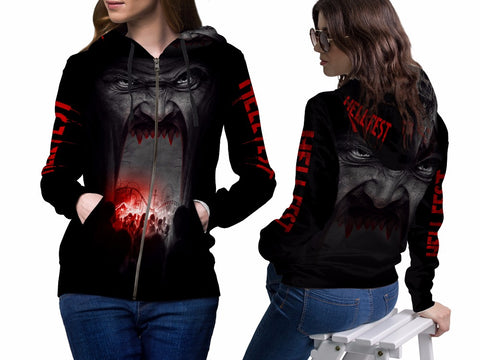 HELL FEST 3D Digital Printed Women's Hoodie Sublimation
