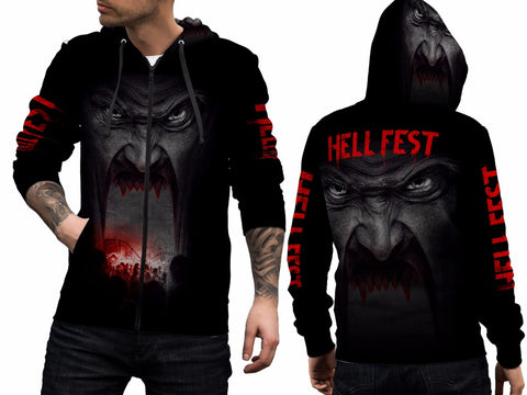 HELL FEST 3D Digital Printed Men's Hoodie Sublimation