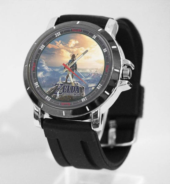 Hot New Design ZELDA Art 1 Custom Sport Wristwatch Sport Big Face Rubber Band