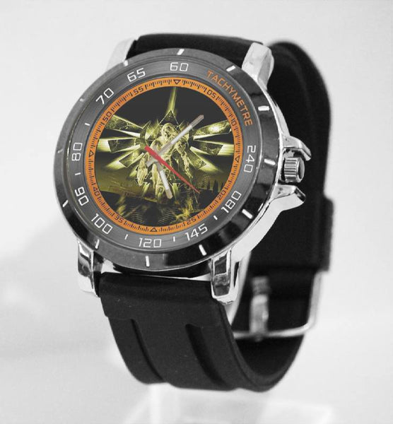 Hot New Design ZELDA Art 4 Custom Sport Wristwatch Sport Big Face Rubber Band