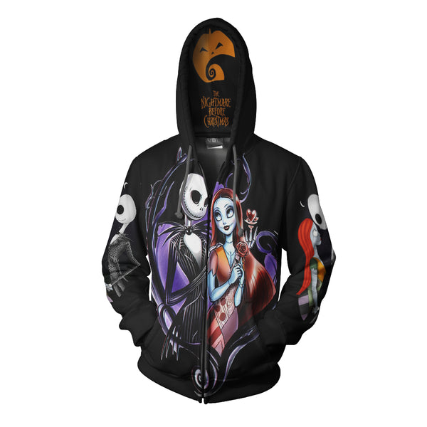 The Nightmare Before Christmas 3D Full Print Sublimation Men Zipper Hoodie Art 02