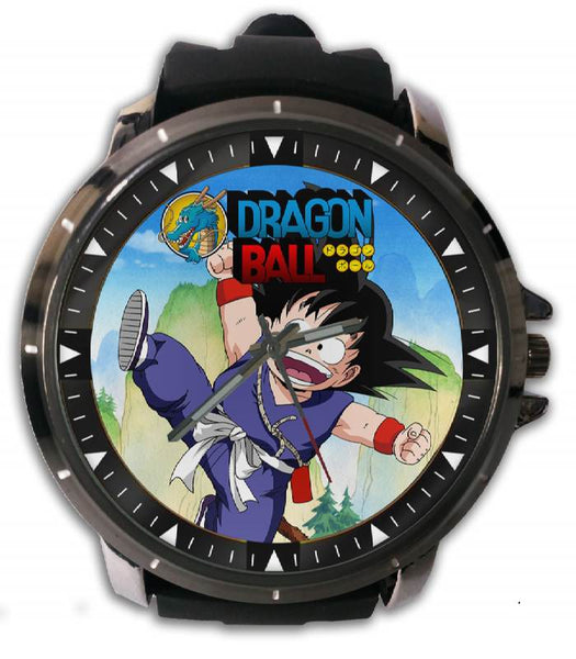 Hot New Design DRAGON BALL Art 3 Custom Sport Wristwatch Sport Big Face Rubber Band