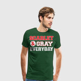 Men's Premium T-Shirt Scarlet and Gray Everyday