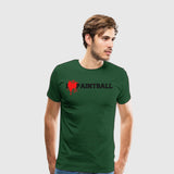 Men's Premium T-Shirt I Heart Paintball