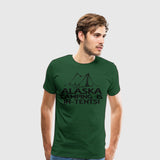 Men's Premium T-Shirt Camping-Alaska Camping in tents