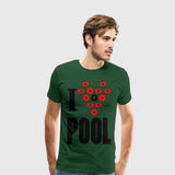 Men's Premium T-Shirt I Heart Pool