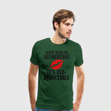 Men's Premium T-Shirt Accounting-Tax Deductible